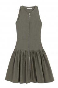 SLEEVLESS PLEATED DRESS