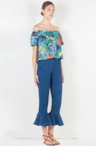 RUFFLE DENIM PANTS  Alternative
