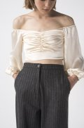 SATIN RUCHED TOP