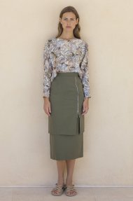 MIDI SKIRT WITH ZIPPER Alternative