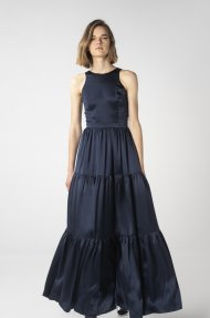 TIERED SATIN DRESS Alternative