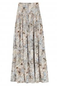 MAXI PLEATED SKIRT