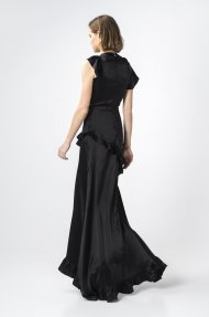 SATIN RUFFLED MAXI DRESS Alternative