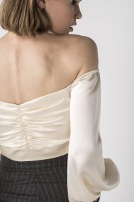 SATIN RUCHED TOP Alternative