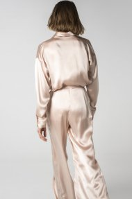 SATIN WIDE LEG PANTS Alternative