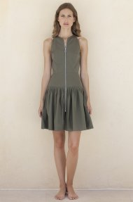 SLEEVLESS PLEATED DRESS Alternative