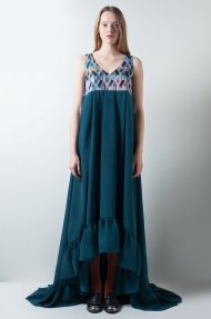 MAXI RUFFLE DRESS